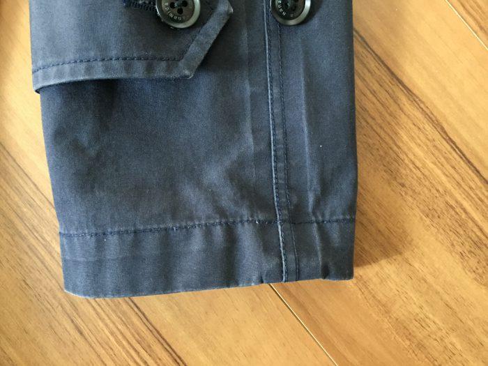 nanamica GORE-TEX Soutien Collar Coat(ナナミカ ゴアテック ステンカラーコート) 水洗い クリーニング アタリ エイジング 経年変化 袖口