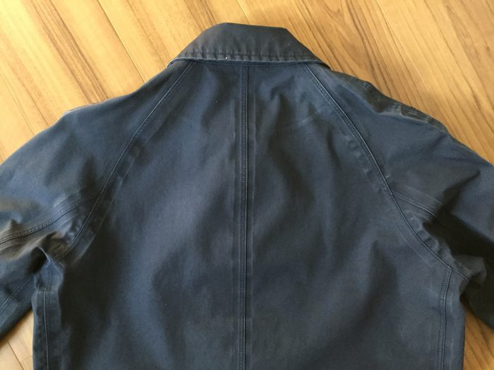 nanamica GORE-TEX Soutien Collar Coat(ナナミカ ゴアテック ステンカラーコート) 水洗い クリーニング アタリ エイジング 経年変化 背中
