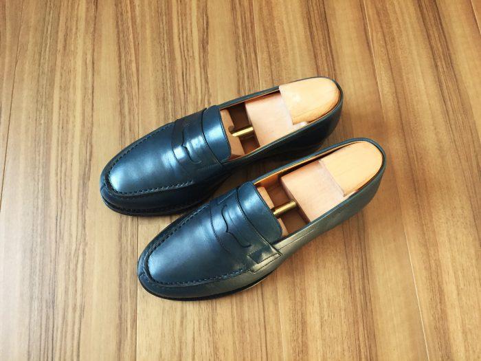Jalan  Sriwijaya(ジャランスリウァヤ)98589【USED】を購入~気兼ねなく履けるネイビーのコインローフ...