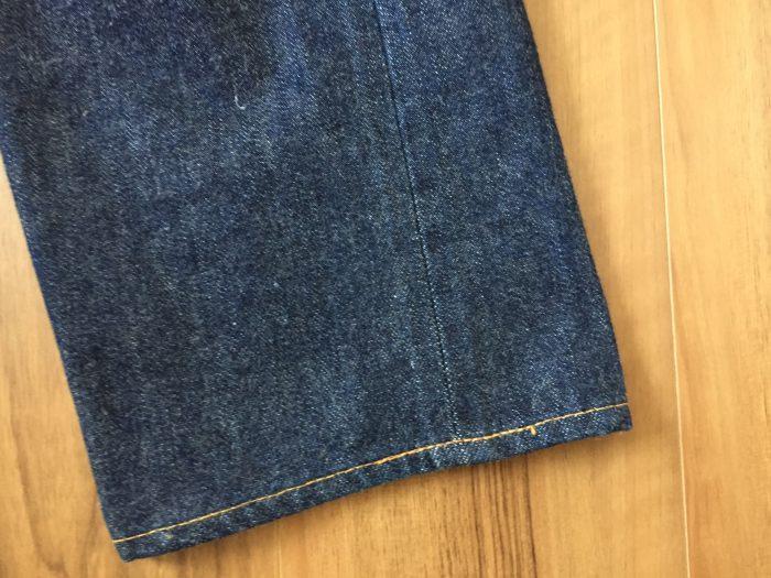 Resolute 710(リゾルト 710)|54日575時間穿いて5回目の洗濯 洗濯前の裾(スソ)