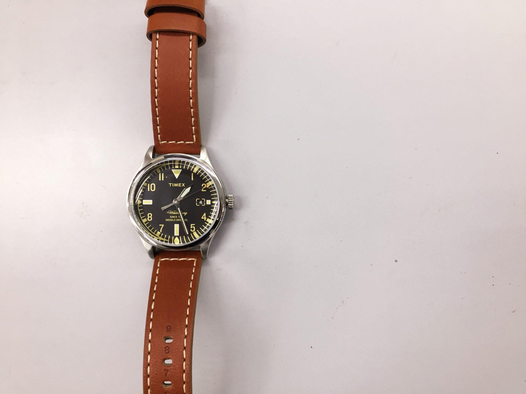 TIMEX(タイメックス)ウォーターベリー Red Wing Shoe Leather 38mm|革ベルトのエイジング(経年変化)を楽しむクォーツウォッチを購入