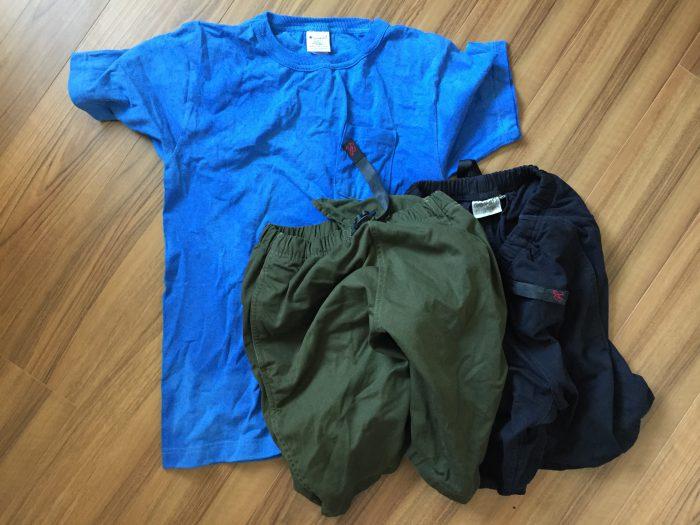 Gramicci(グラミチ)ショーツとChampion(チャンピオン)T1011 洗濯