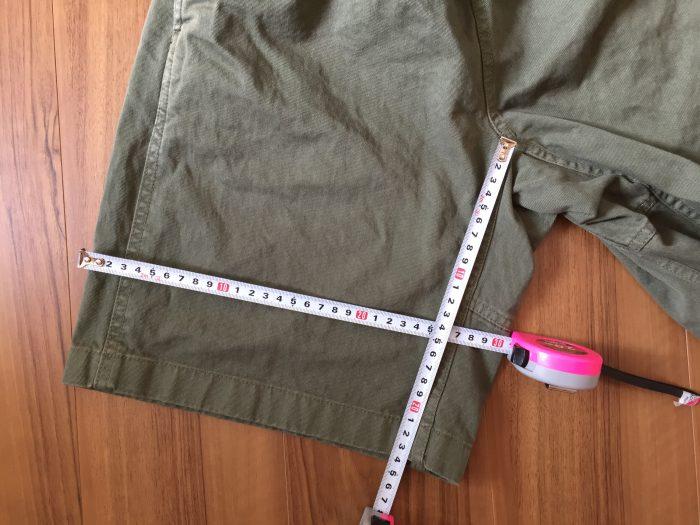 Gramicci(グラミチ) ショーツ 股下 ワタリ幅 サイズ 洗濯後 乾燥後