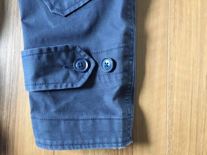 nanamica(ナナミカ)GORE-TEX Cruiser Jacket 洗濯 3回  袖 エイジング(経年変化)