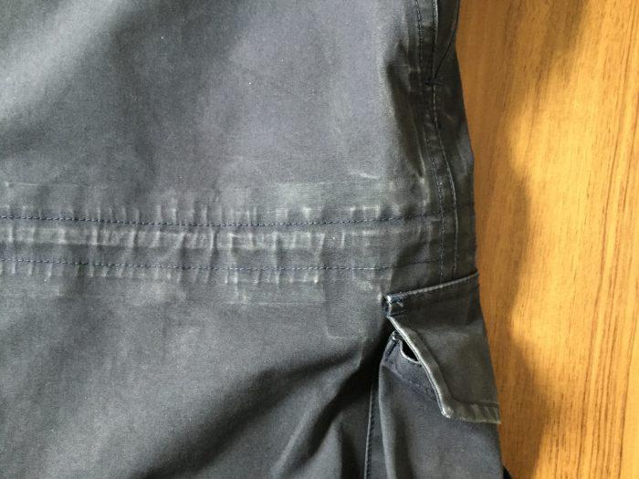 nanamica(ナナミカ)GORE-TEX Cruiser Jacket 洗濯 3回  ウエスト ドローコード エイジング(経年変化)
