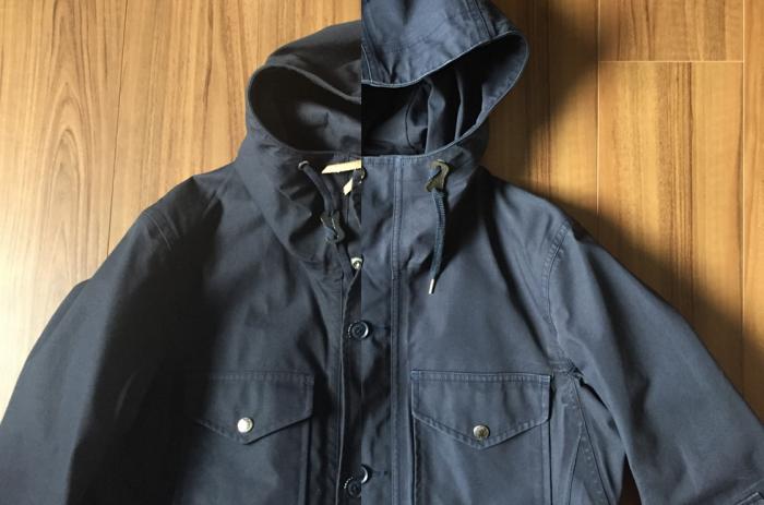 nanamica(ナナミカ)GORE-TEX Cruiser Jacket 洗濯 3回 胸元.png