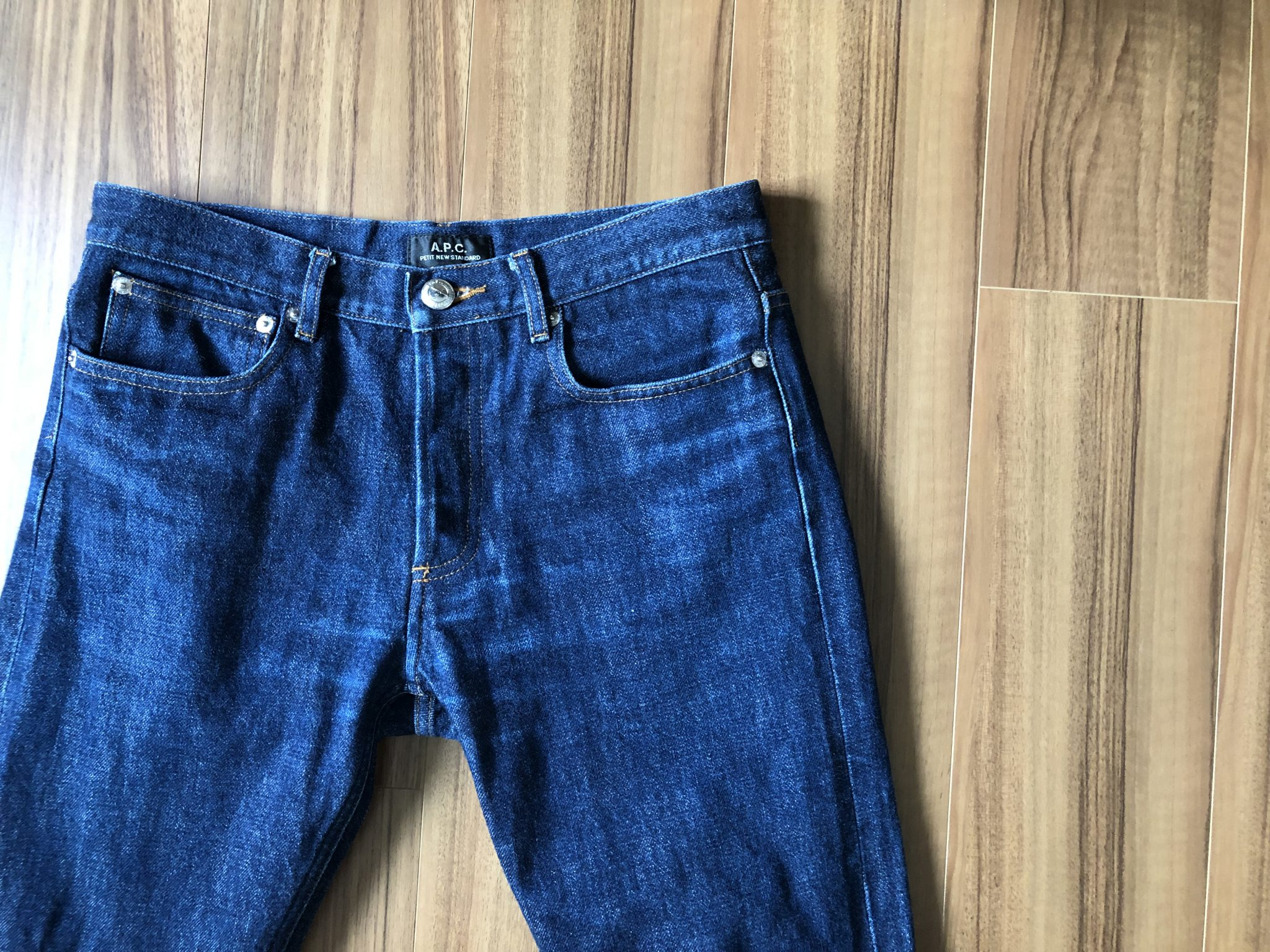 A.P.C. Petit New Standard(プチニュー)size29|79日810時間穿いて8回目の洗濯~購入当時とエイジング(経年変化)を比較します