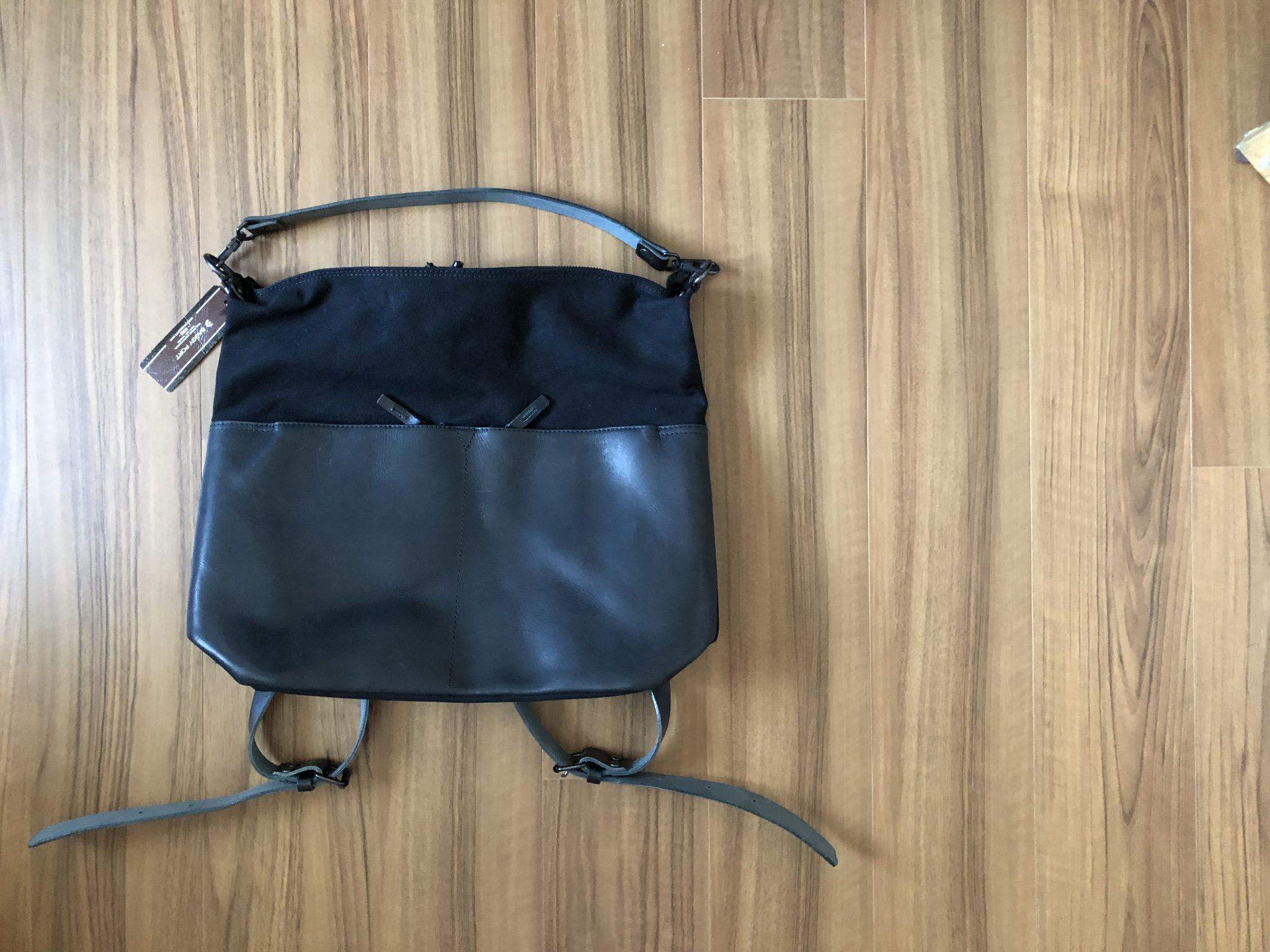 バギーポート(Baggy Port)帆布×オイルレザー 2wayリュック|素材と大きさと背負いやすさに拘った新しいバッグを購入