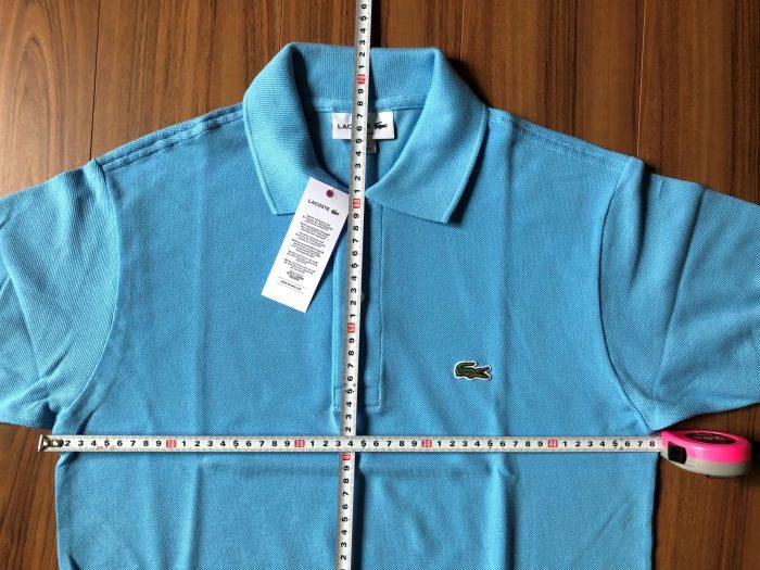 ラコステ フララコ(LACOSTE L1212)ポロシャツ オーシャンブルー 着丈 身幅 サイズ