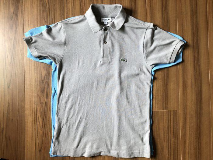 ラコステ フララコ(LACOSTE L1212)ポロシャツ オーシャンブルー 洗濯後 縮み サイズ 比較