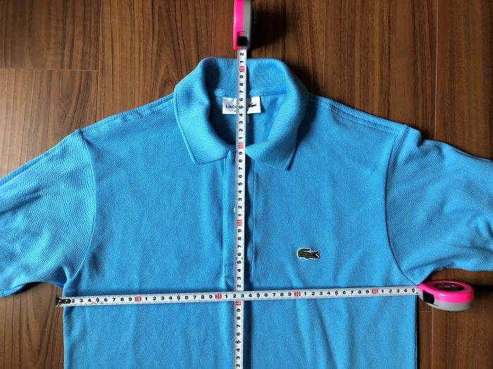 ラコステ フララコ(LACOSTE L1212)ポロシャツ オーシャンブルー 洗濯後 乾燥後 サイズ 縮み