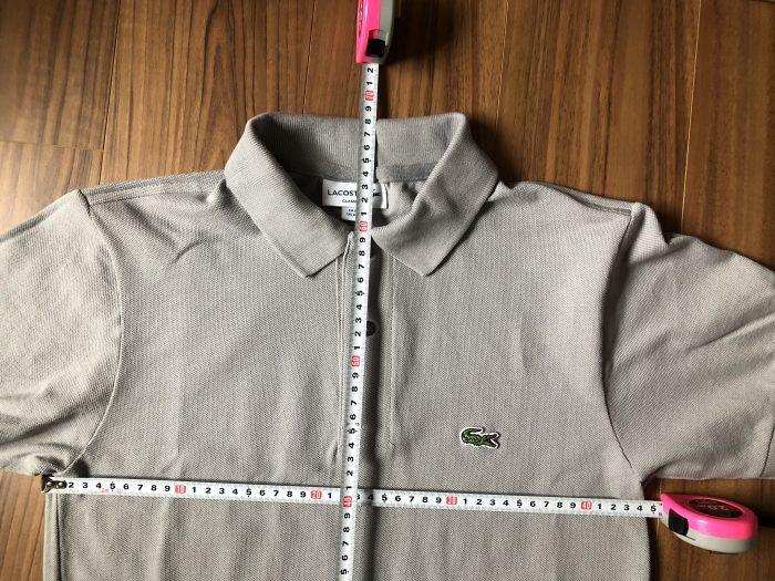 ラコステ フララコ(LACOSTE L1212)ポロシャツ グレー 洗濯後 乾燥後 サイズ 縮み