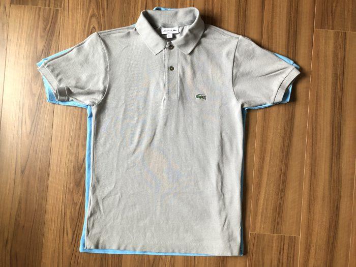 ラコステ フララコ(LACOSTE L1212)ポロシャツ オーシャンブルー 乾燥後 縮み サイズ 比較