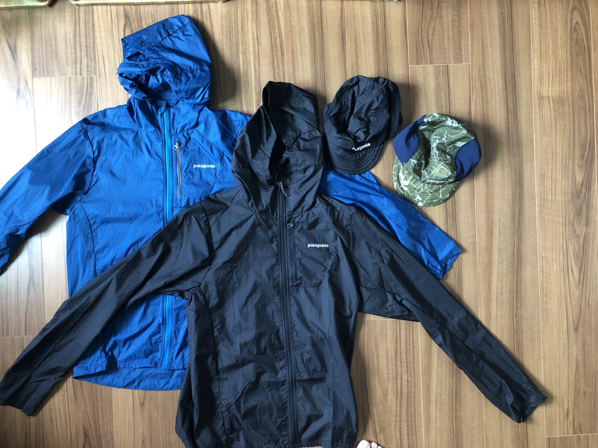 パタゴニア(Patagonia)のアウトレット店でフーディニジャケットとエアディニキャップを買い足ししてきました