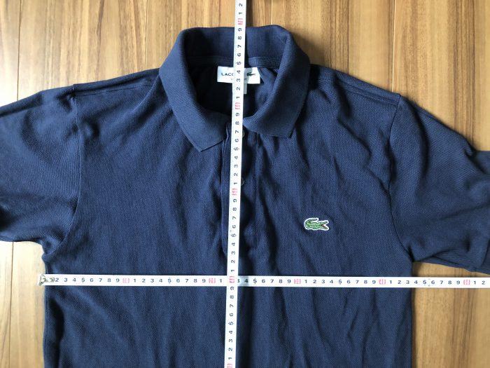 ラコステ フララコ(LACOSTE L1212)ポロシャツ ネイビー 洗濯 乾燥機 後 縮み