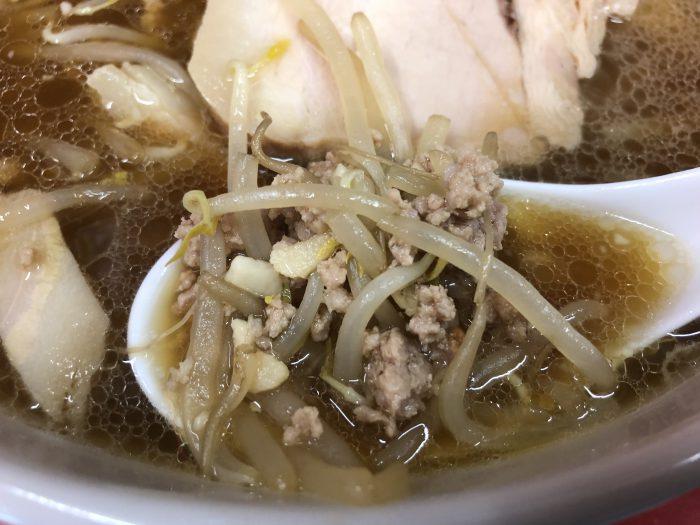 サッポロラーメン 天竜‐醤油一枚 ひき肉