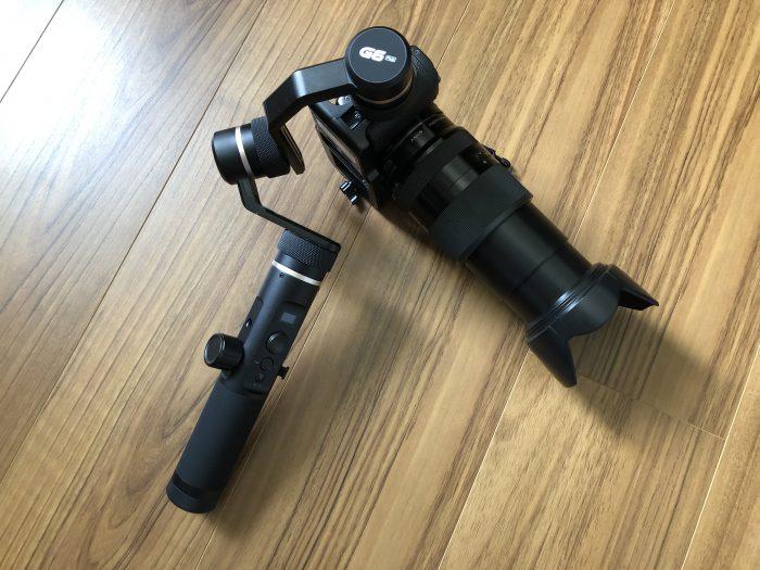 Feiyutech(フェイユーテック) G6 PLUS カメラの取り付け α5100 200mm