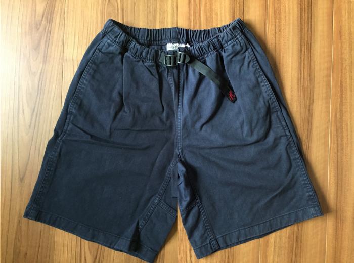 グラミチ Gショーツ(Gramicci G-Shorts) エイジング 経年変化 ダブルネイビー