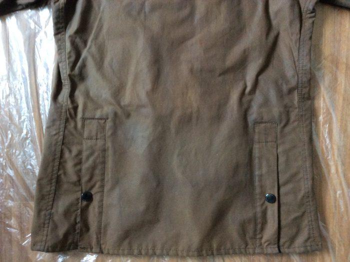 バブアー リプルーフ オイル ソーンプルーフドレッシング 生地に塗る ヒートガン 浸透させる 背中 腰