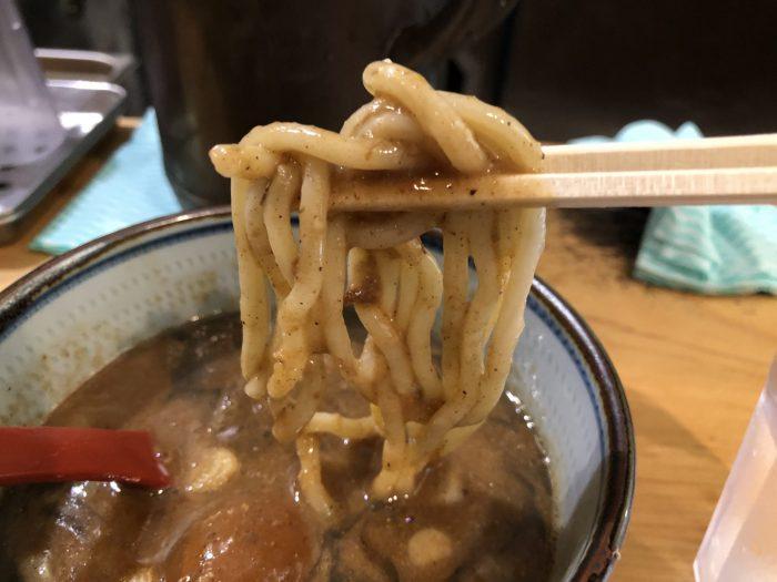 月と鼈 特製肉玉つけ麺 麺