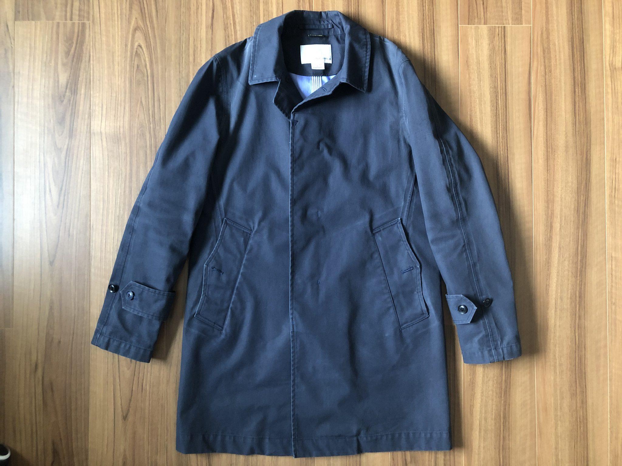 ナナミカ ゴアテックス ステンカラーコート(nanamica GORE-TEX Soutien Collar Coat)|3年目の季節を迎えるコートのエイジング(経年変化)の様子です