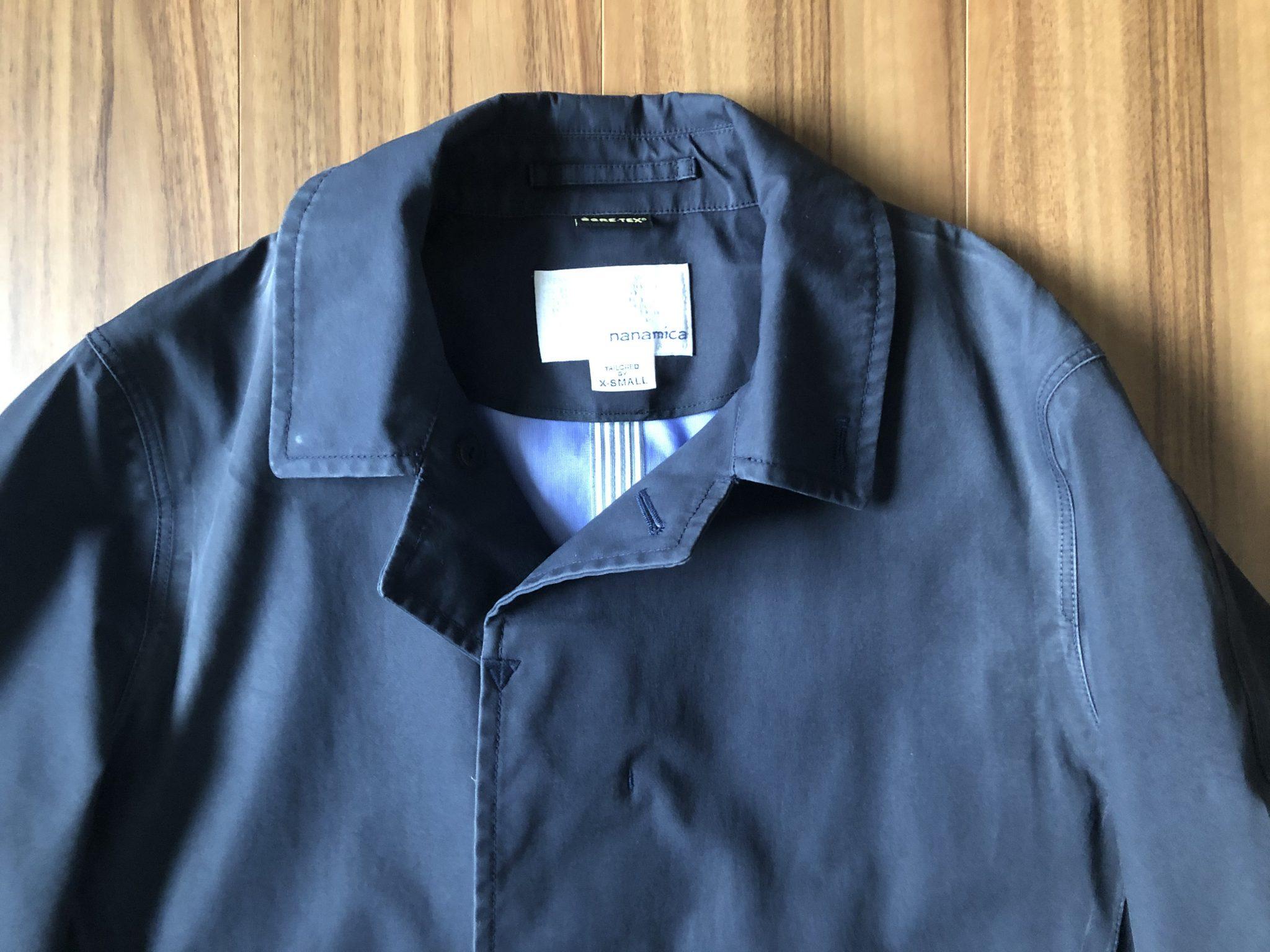 ナナミカ ゴアテックス ステンカラーコート nanamica GORE-TEX Soutien Collar Coat 襟 肩 3期目 エイジング 経年変化