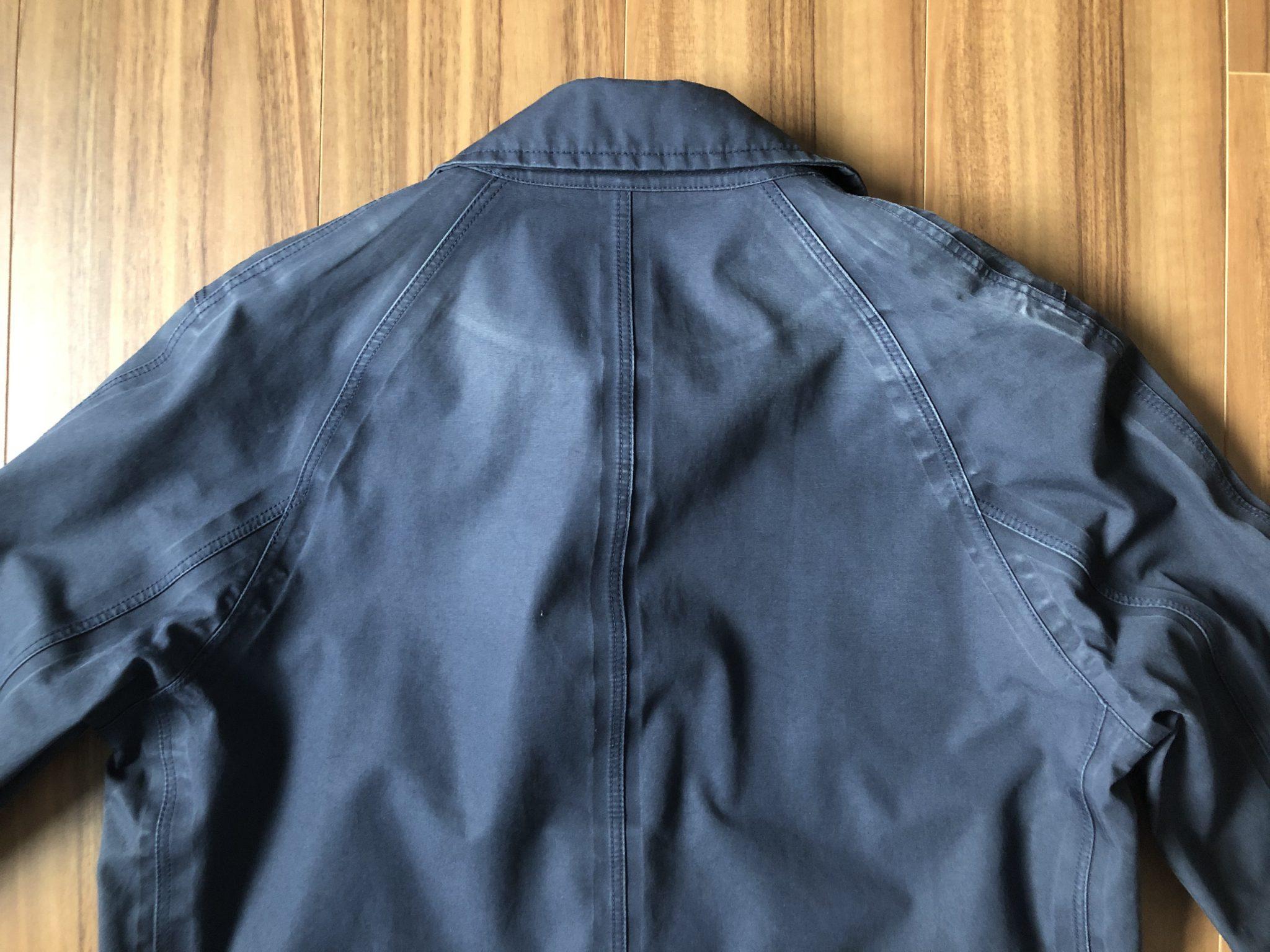 ナナミカ ゴアテックス ステンカラーコート nanamica GORE-TEX Soutien Collar Coat 背中 3期目 エイジング 経年変化
