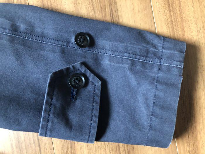 ナナミカ ゴアテックス ステンカラーコート nanamica GORE-TEX Soutien Collar Coat 袖 3期目 エイジング 経年変化