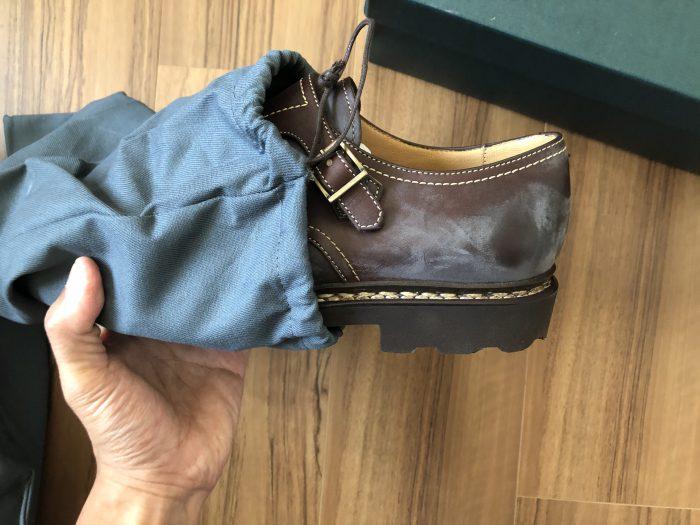 パラブーツ ウィリアム Paraboot William 外箱 カフェ リスレザー シューバッグ 靴袋