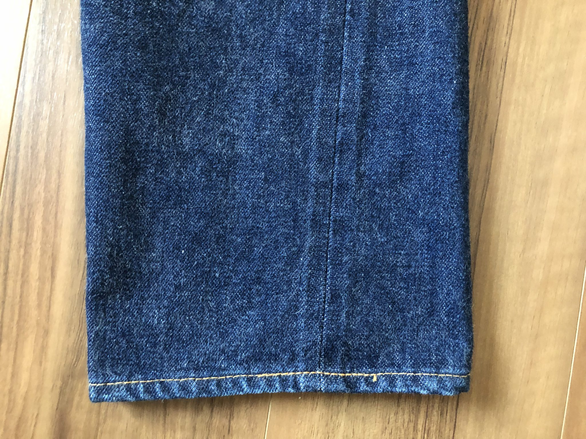 Resolute710 リゾルト710 10回目 洗濯 エイジング 経年変化 裾 スソ ミミ
