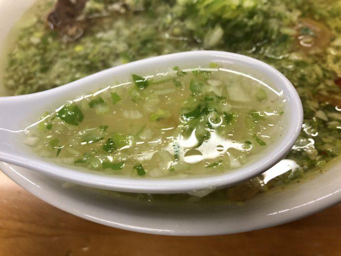 ラーメン珉珉 みんみん 塩半々 塩ラーメン スープ