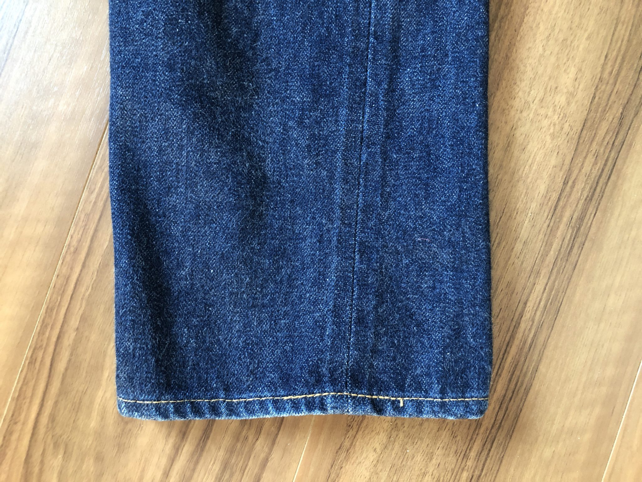 リゾルト Resolute 710 エイジング 経年変化 洗濯11回 スソ 裾