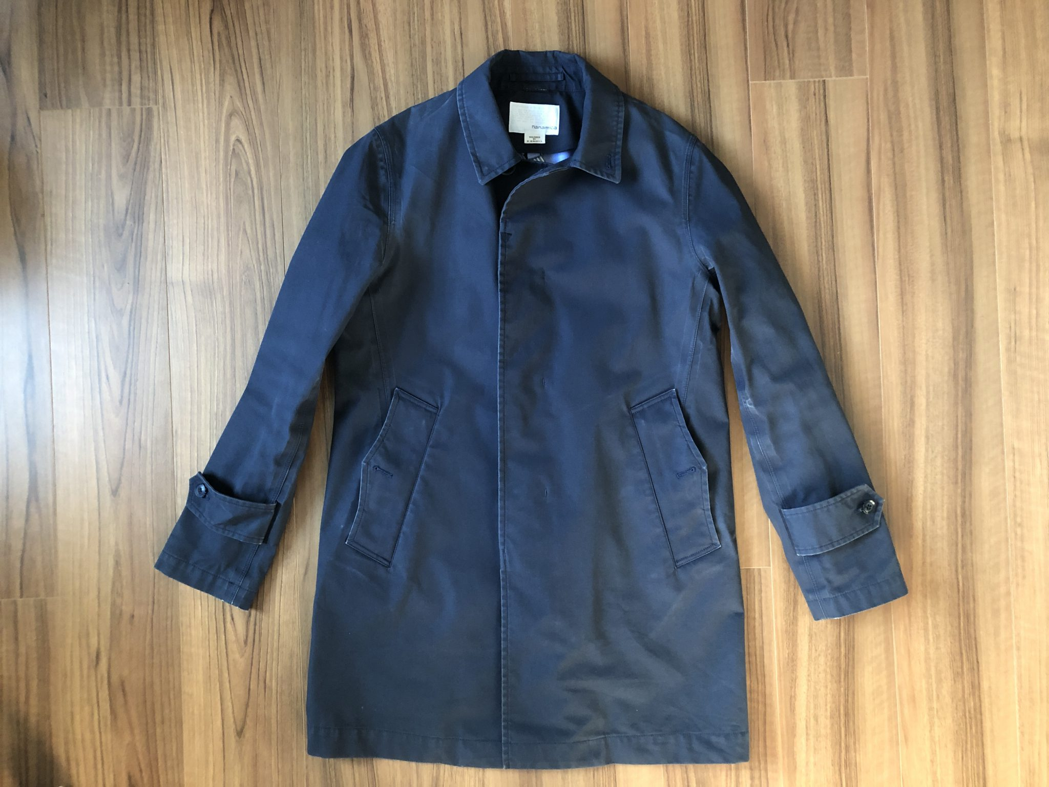 ナナミカ ゴアテックス ステンカラーコート nanamica GORE-TEX Soutien Collar Coat 3年目 洗濯後 エイジング 経年変化 全体観