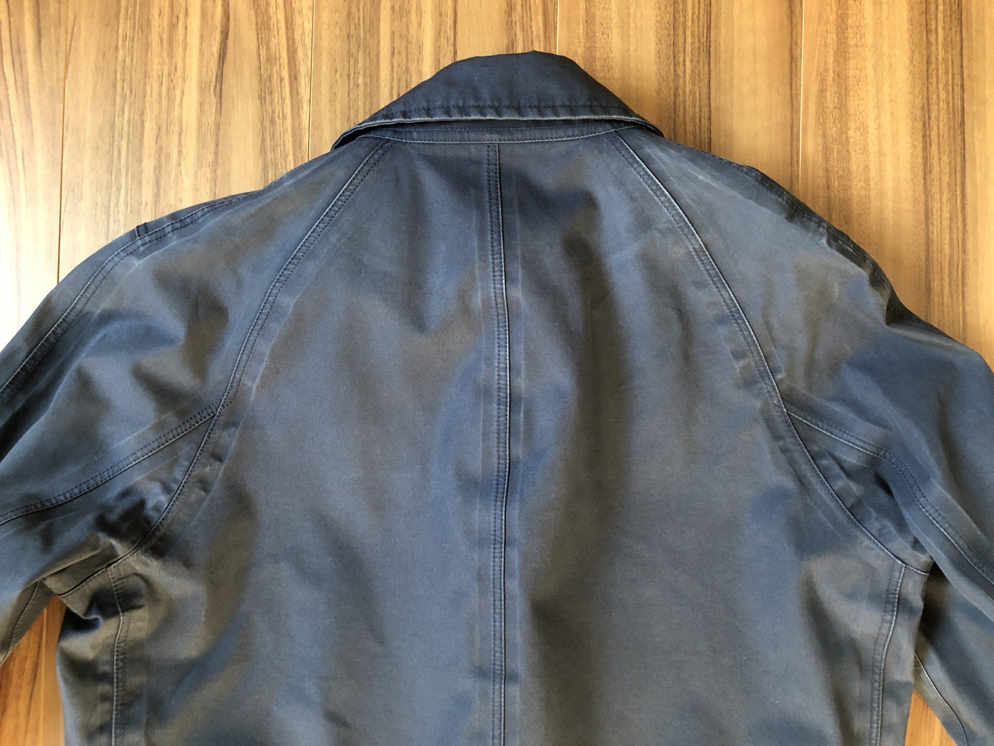 ナナミカ ゴアテックス ステンカラーコート nanamica GORE-TEX Soutien Collar Coat 3年目 洗濯後 エイジング 経年変化 背中