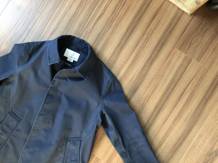 ナナミカ ゴアテックス ステンカラーコート(nanamica GORE-TEX Soutien Collar Coat)|家で洗濯後のエイジング(経年変化)の様子です