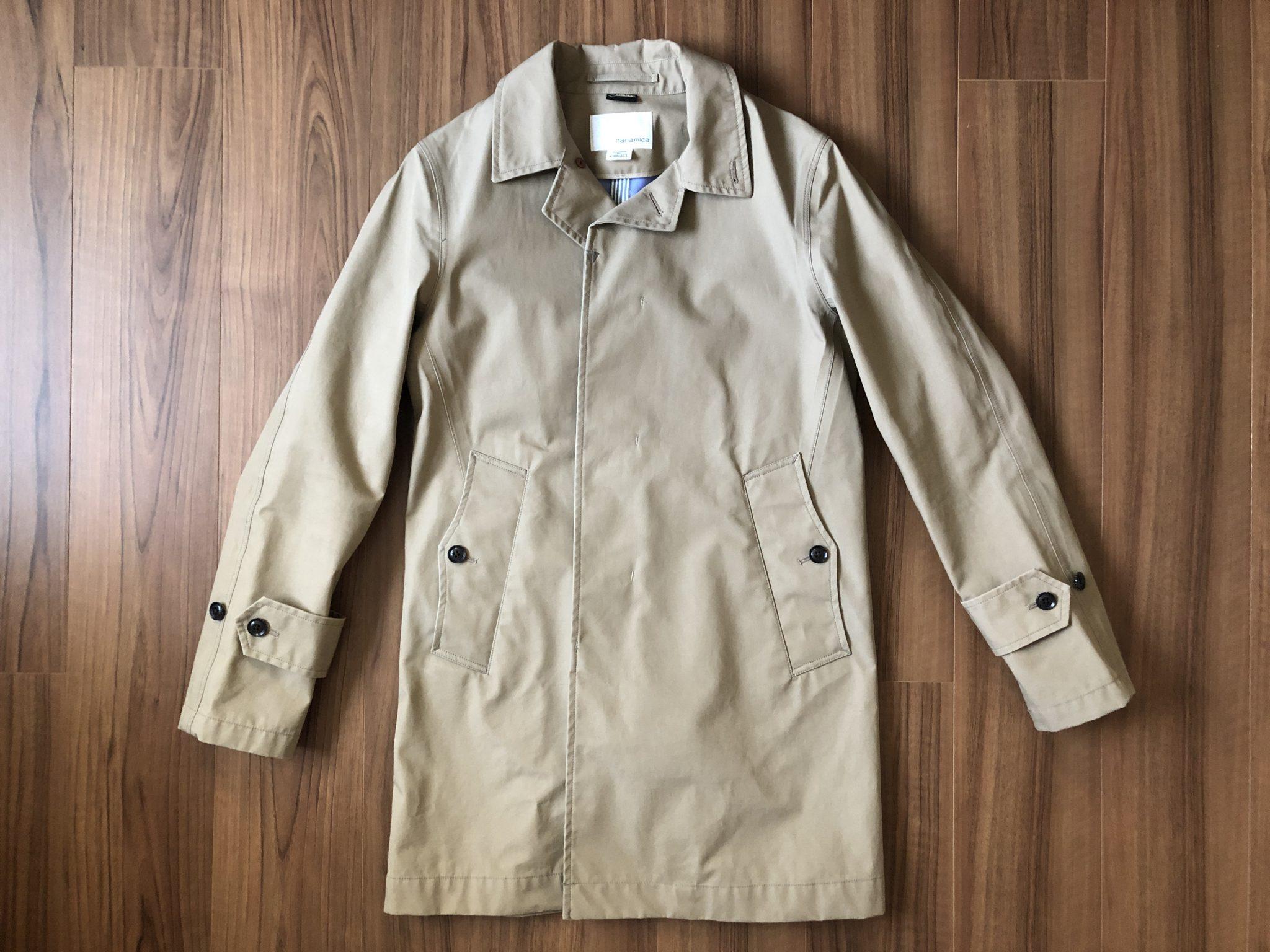 ナナミカ ゴアテックス ステンカラーコート nanamica GORE-TEX Soutien Collar Coat ベージュ 購入当初 全体観