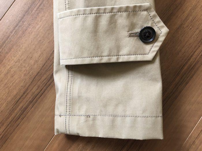 ナナミカ ゴアテックス ステンカラーコート nanamica GORE-TEX Soutien Collar Coat ベージュ 購入当初 袖口