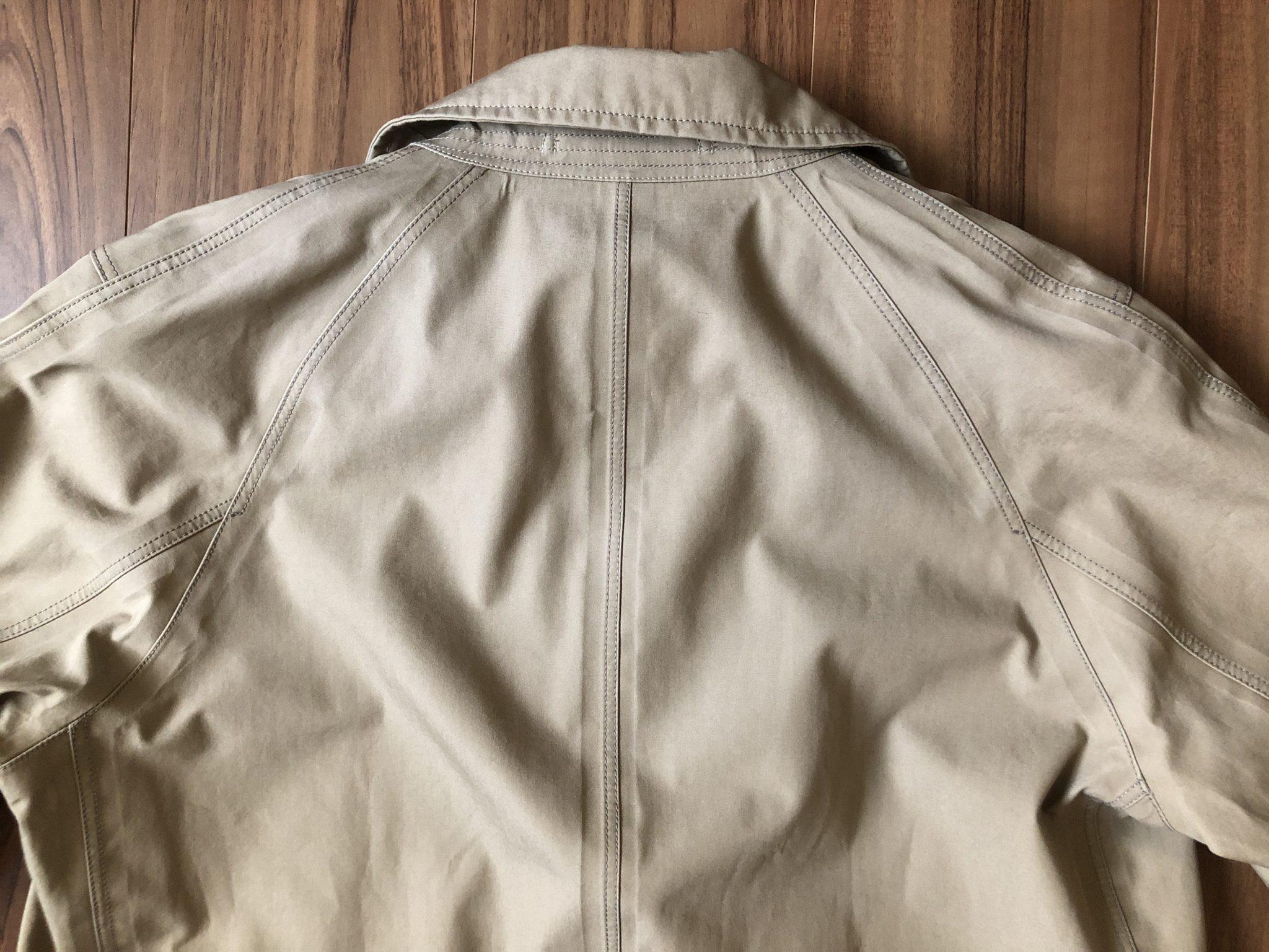 ナナミカ ゴアテックス ステンカラーコート nanamica GORE-TEX Soutien Collar Coat ベージュ 購入当初 背中