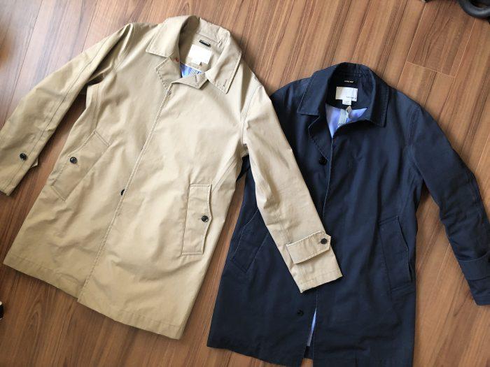 ナナミカ ゴアテックス ステンカラーコート nanamica GORE-TEX Soutien Collar Coat ベージュ 購入当初 ネイビー