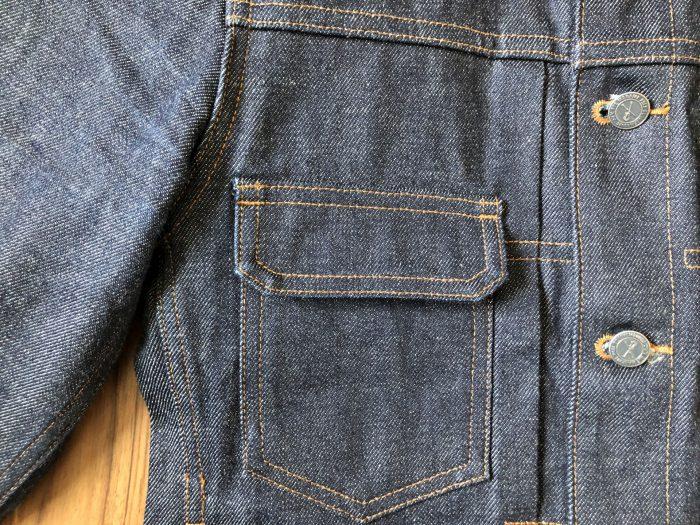 A.P.C.デニムワークジャケット エイジング 経変変化 ノンウォッシュ リジッド ポケット