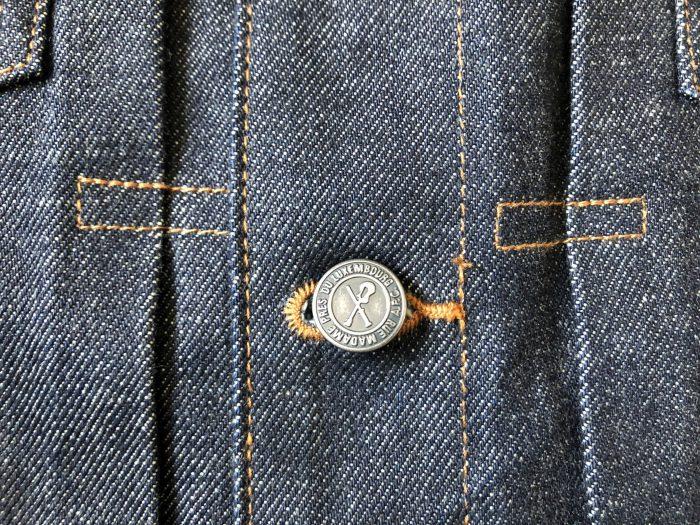 A.P.C.デニムワークジャケット エイジング 経変変化 ノンウォッシュ リジッド ボタン ステッチ