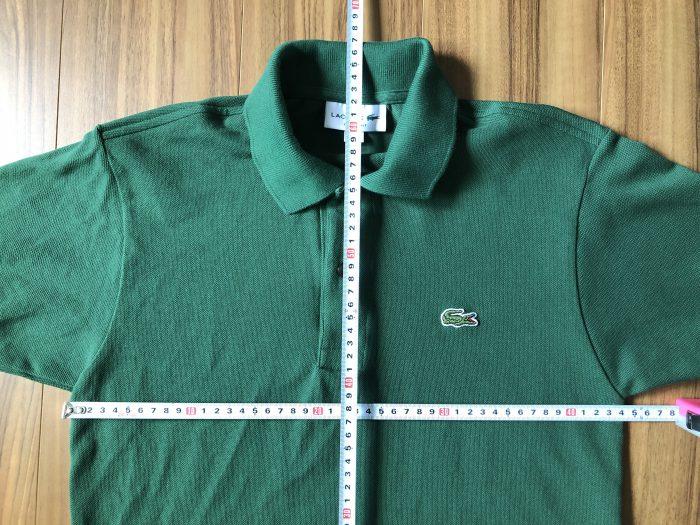 ラコステ フララコ LACOSTE L1212 グリーン ヴェール サイズ感 身幅 着丈 乾燥機 洗濯 サイズダウン