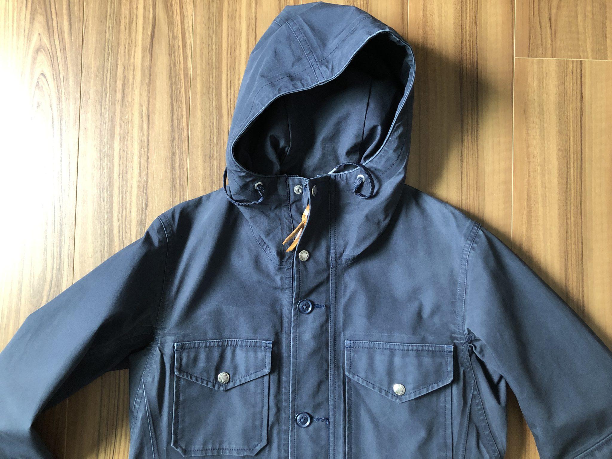 ナナミカ コットンゴアテックス nanamica GORE-TEX クルーザージャケット エイジング 経年変化 2年半 胸元