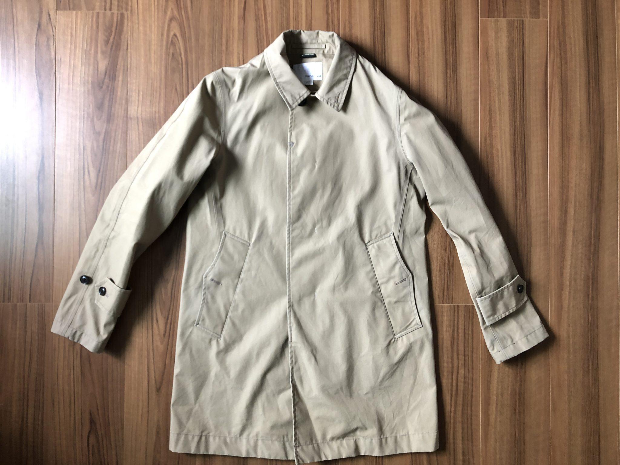 ナナミカ コットンゴアテックス nanamica GORE-TEX クルーザージャケット エイジング 経年変化 ステンカラーコート ベージュ 半年 全体観