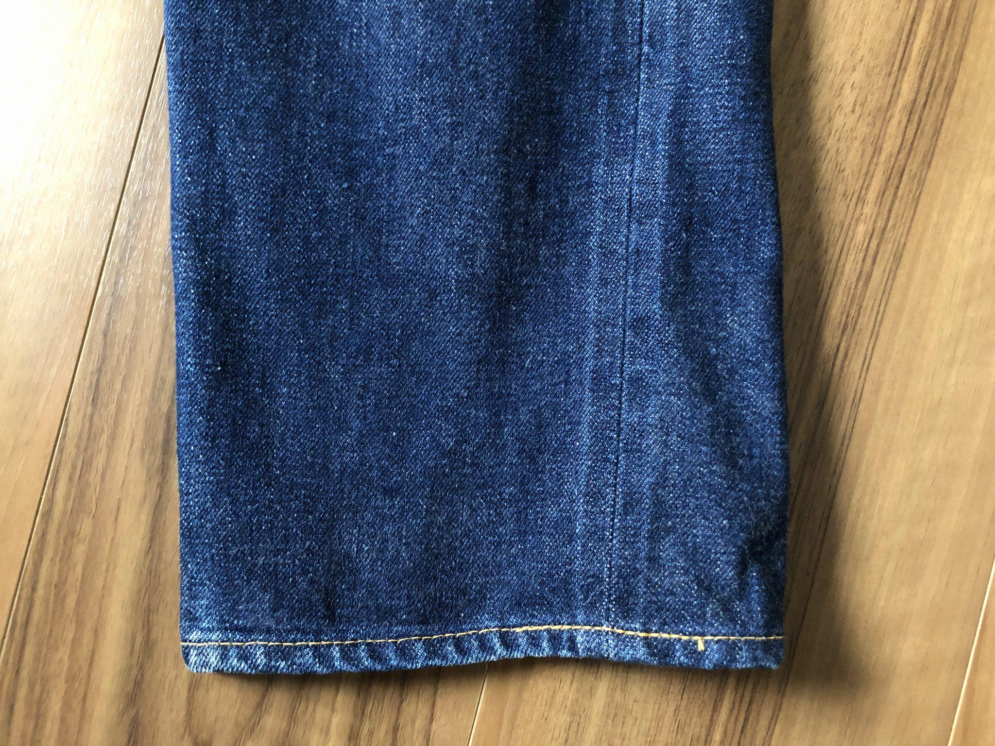 リゾルト 710 Resolute 710 エイジング 経年変化 16回洗濯 スソ 裾 チェーンステッチ
