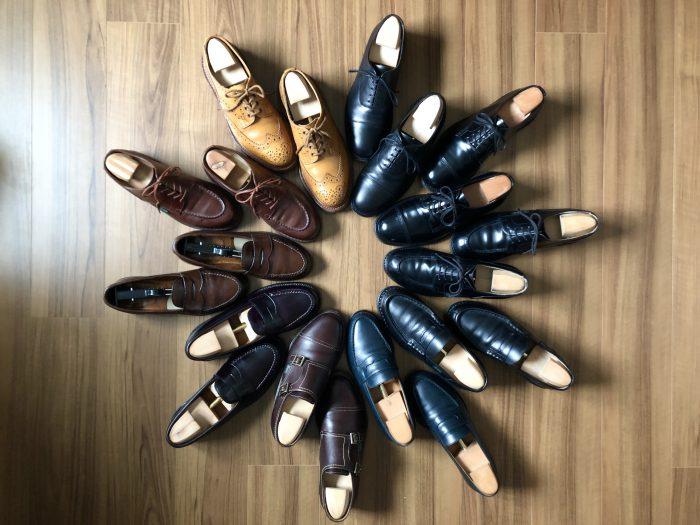 革靴 レザーシューズ シューサークル オールデン パラブーツ トリッカーズ サンダース