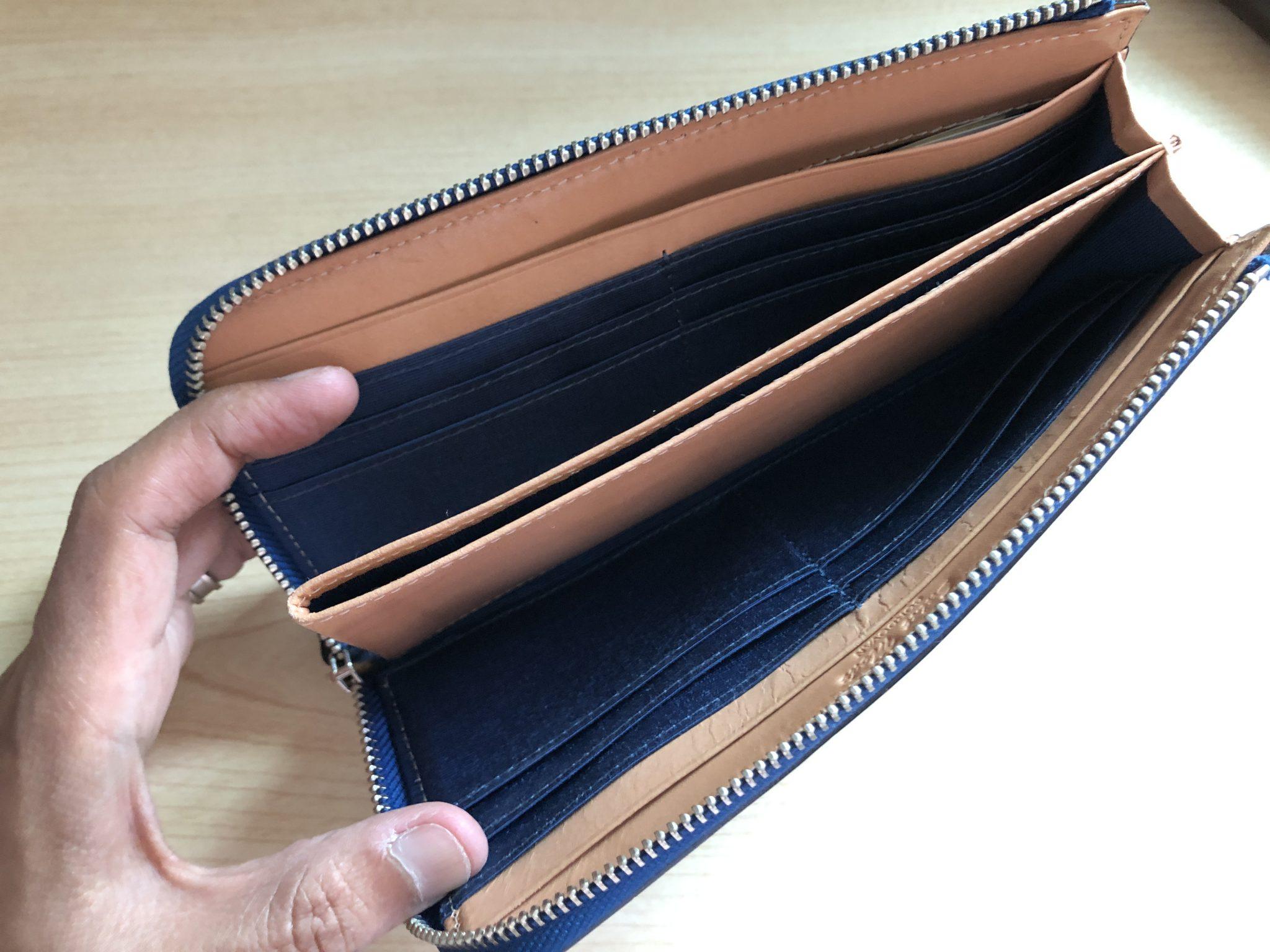 コードバン L字 財布 ウォレット エイジング 経年変化 半年 内面 内側