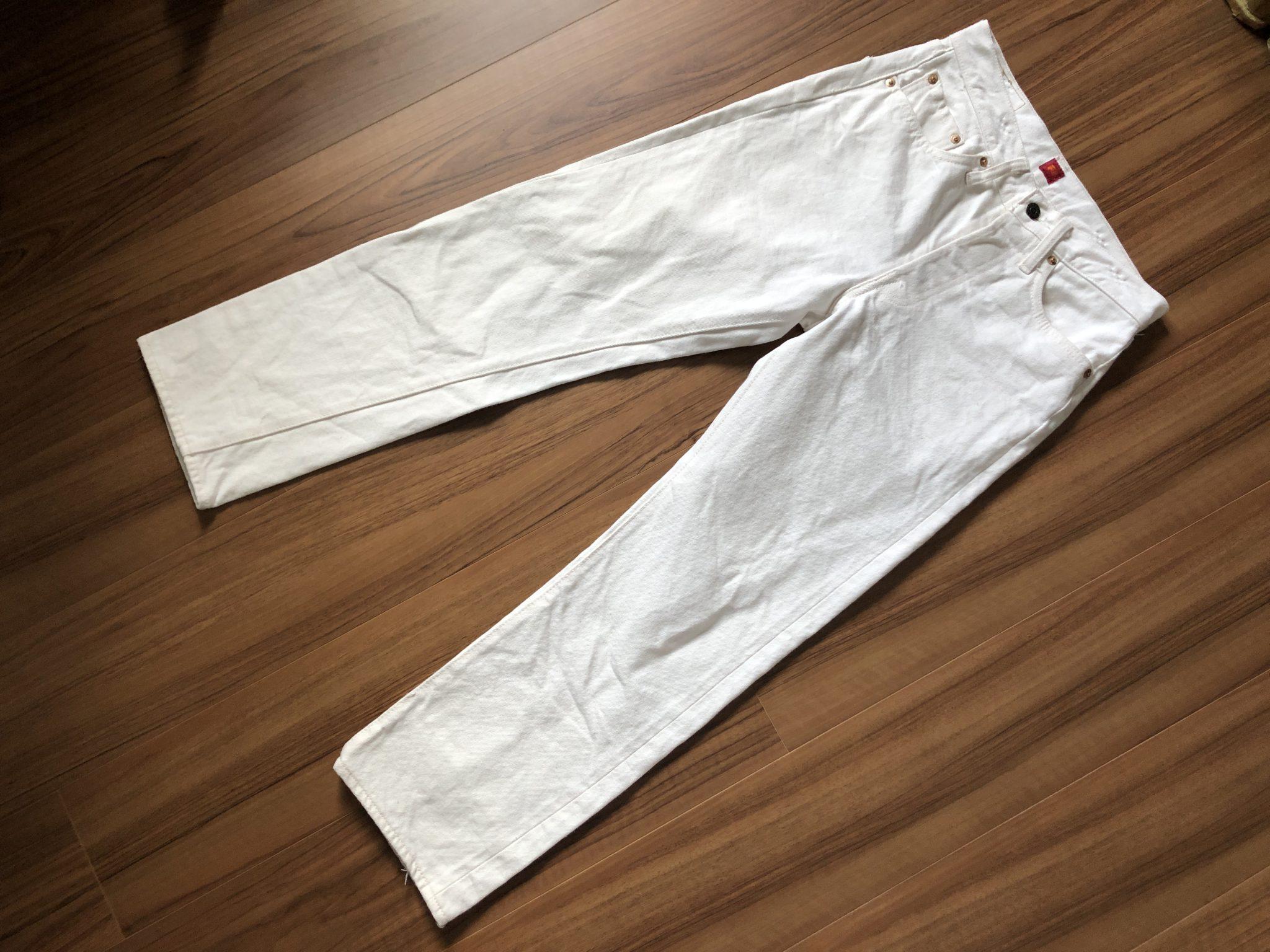 リゾルト Resolute AA710 ホワイト 洗濯 3回目 経年変化 エイジング 全体観