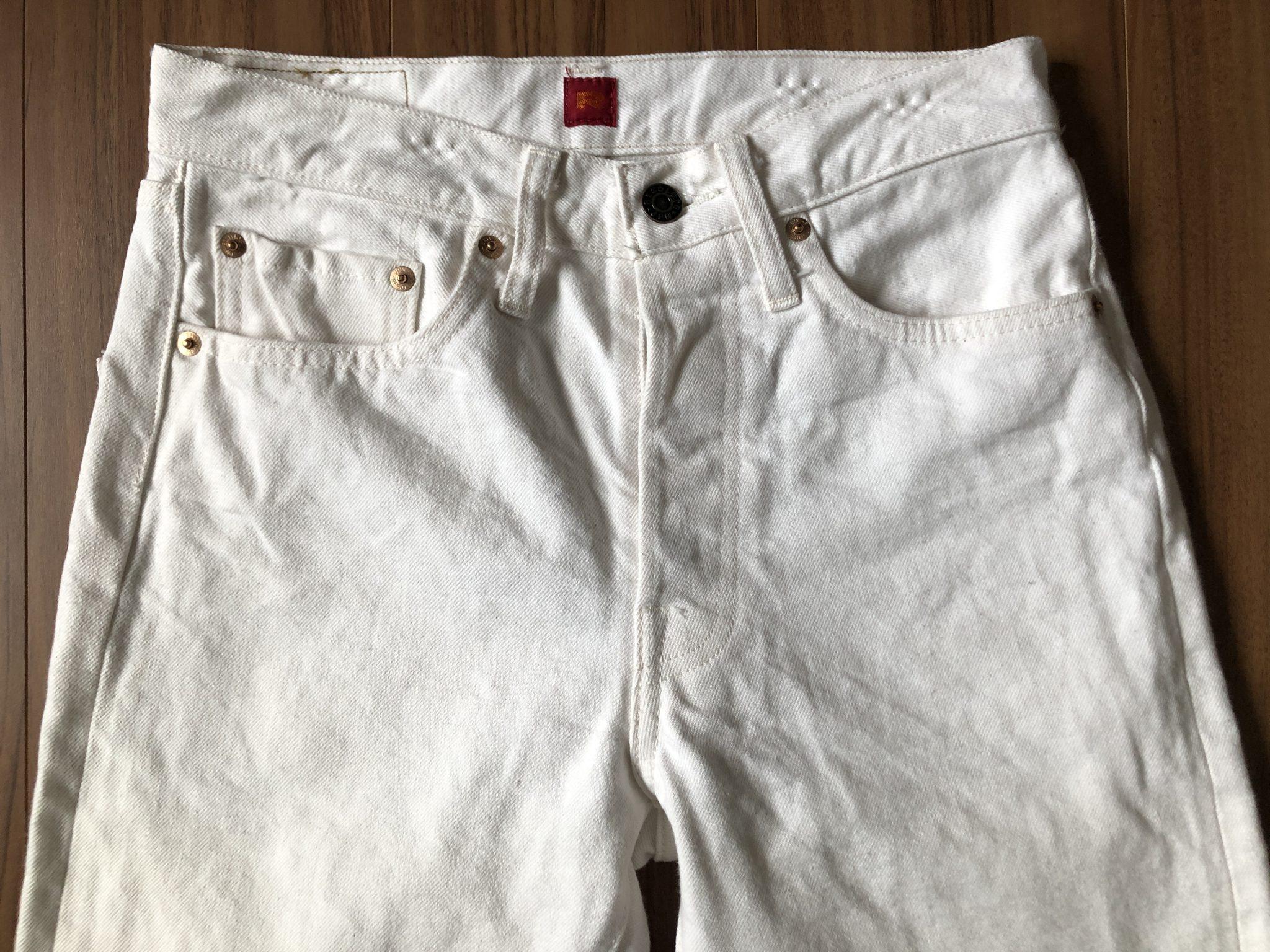 リゾルト Resolute AA710 ホワイト 洗濯 3回目 経年変化 エイジング ヒゲ ひげ