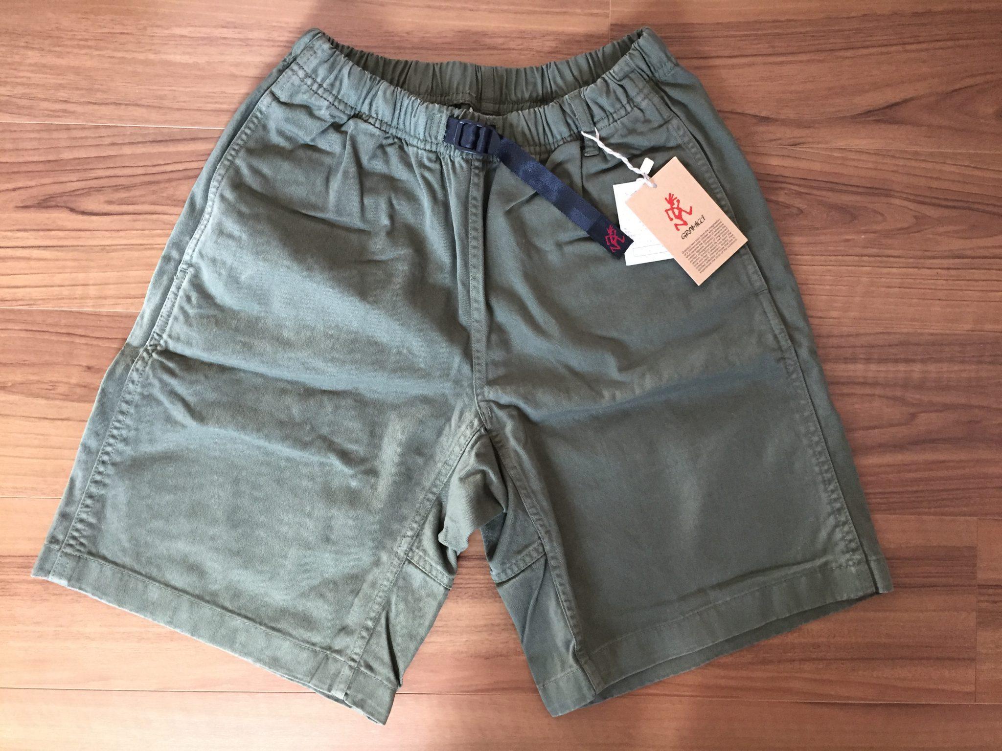 グラミチ Gショーツ Gramicci G-Shorts エイジング 経年変化 購入当初 オリーブ カーキ